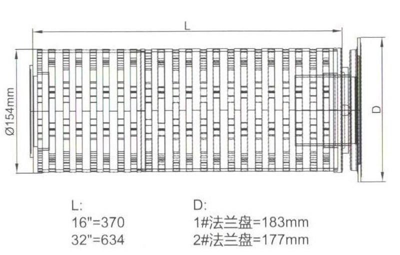 滤袋式大流量滤芯图纸